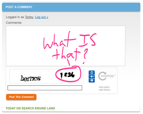 Another bad CAPTCHA seconds later... what IS that?