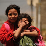 Playful and Shy Guatemalan Girls - Totonicapan, Guatemala