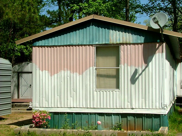 Neopolitan paint job mobile home saline county ar flickr for How to paint a mobile home exterior