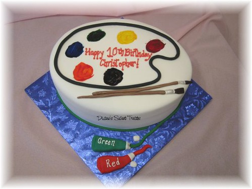 artist palette cake Flickr - Photo Sharing!