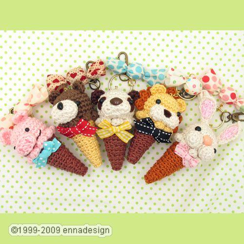 Mini Ice Cream Amigurumi : Amigurumi Animal Ice Cream Cones Flickr - Photo Sharing!