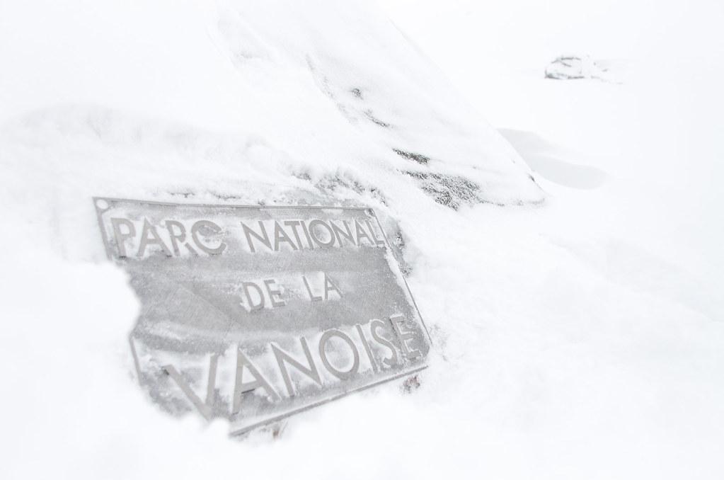 Parc naturel de la Vanoise - Randonnée à ski - L'entrée du parc