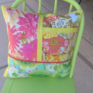 Pretty spring pillow side two. 2014.