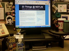 Doing 23 Things at my desk!