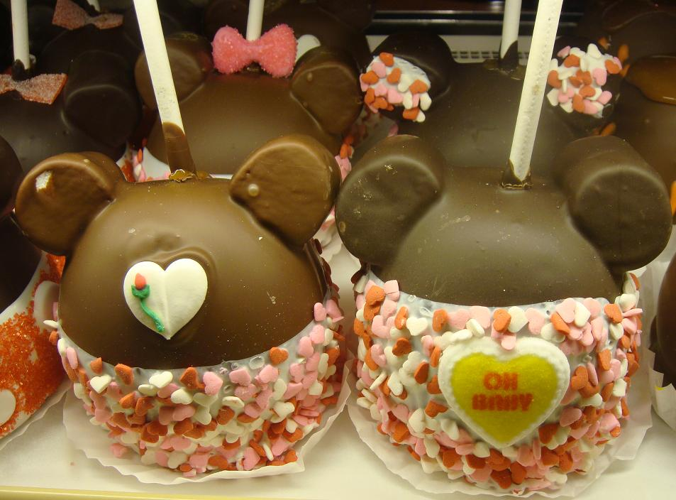 Valentines Day Mickey And Minnie Mouse Candy Apples
