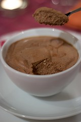 hot chocolate(0.0), drink(0.0), chocolate pudding(1.0), food(1.0), dish(1.0), dessert(1.0), chocolate(1.0),