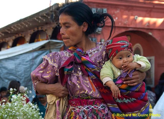 Woman and baby, market, Chichicastenango, Guatemala