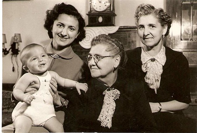 1952, October. Women's four generations