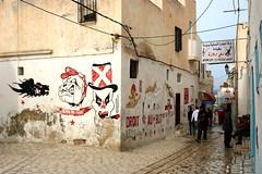 Graffiti in Sousse, Tunisia, North Africa
