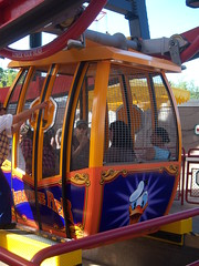 The Donald Duck car on Mickey's Fun Wheel