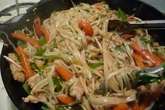 fried noodles(0.0), pancit(0.0), cellophane noodles(0.0), produce(0.0), yakisoba(0.0), vermicelli(0.0), noodle(1.0), mie goreng(1.0), bakmi(1.0), lo mein(1.0), japchae(1.0), green papaya salad(1.0), food(1.0), dish(1.0), chinese noodles(1.0), pad thai(1.0), cuisine(1.0), chow mein(1.0),