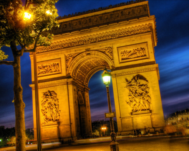 Arc de Triomphe and Place Charles de Gaulle by Night