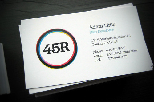 45royale business card