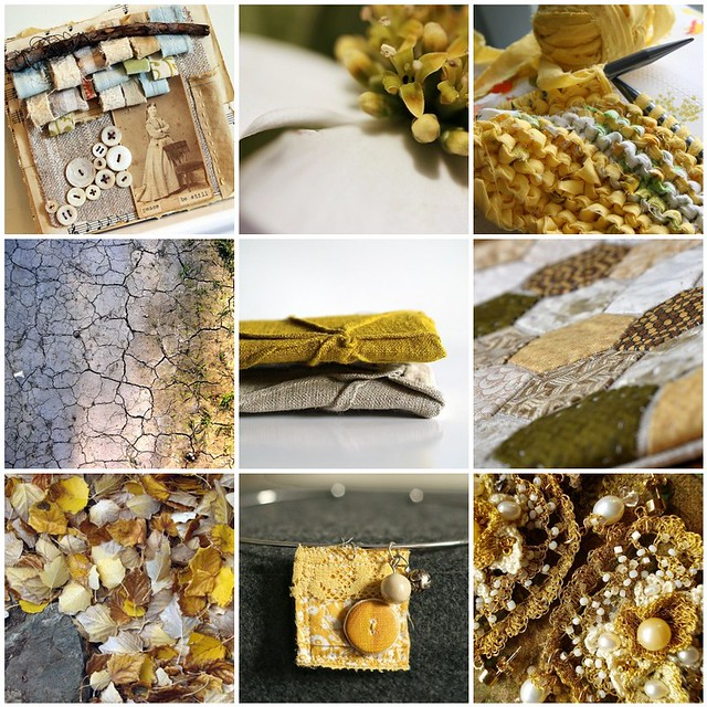 sunny mustard tones, Flickr mosaic curated by Emma Lamb