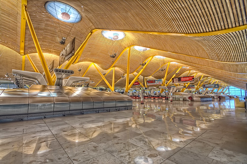 Barajas Madrid Airport T4, Landside HDR
