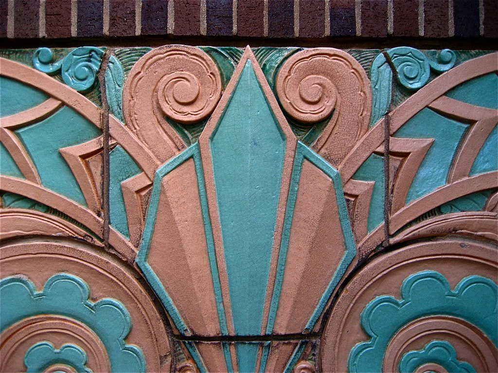 Art deco terra cotta this is from a building at u flickr