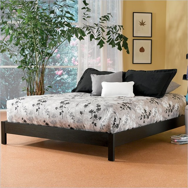 Platform Bed Black Finish