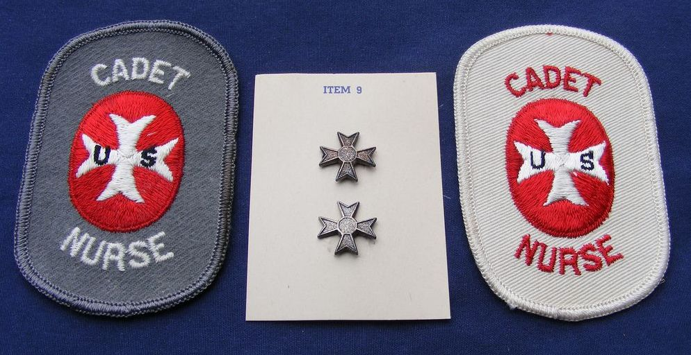 Cadet Nurse Corp Patches and Student Pins (1943-1948)