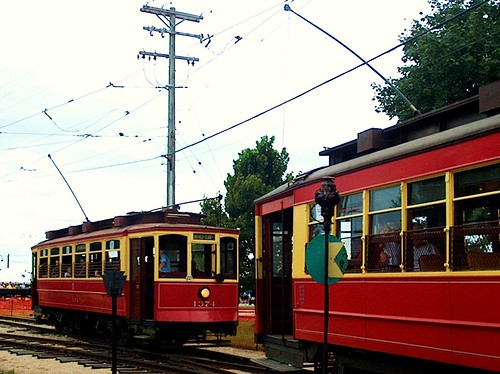 Chicago Surface Lines electric streetcars # 1374 ( Left) and # 144 (Right) The Illinois Railway Museum. Union Illinois. August 2006. by Eddie from Chicago