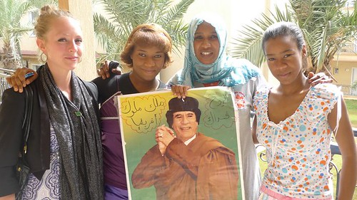 A Sudanese woman and her two daughters fled from Misrata to Tripoli in response to the counter-revolutionary violence carried out by the anti-Gaddafi forces in Misrata. They are still loyal to the revolutionary leader. by Pan-African News Wire File Photos