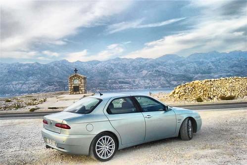 My Alfa Romeo 156 2.5 v6 azzuro nuvola