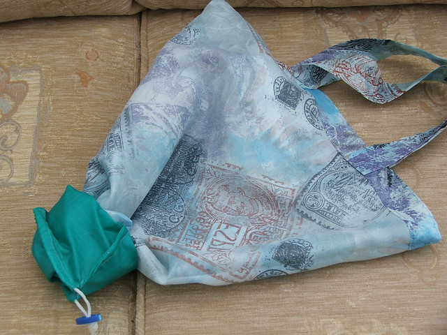 Stuffing back into mini-bag 13