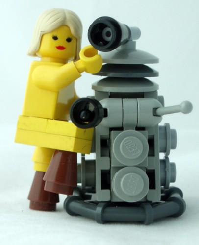 Lego Dalek and Lego Katy Manning