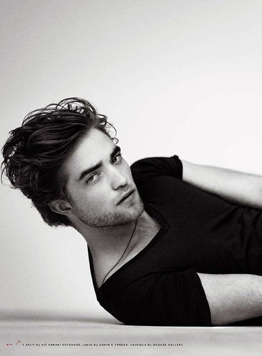 Robert Pattinson's Spread inside GQ Magazine