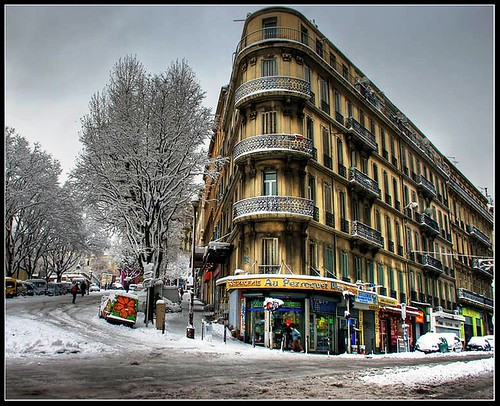 Snow in Marseille.....