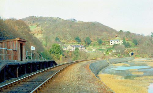 Abertafol Halt on the Cambrian Coast Mainline (1980)