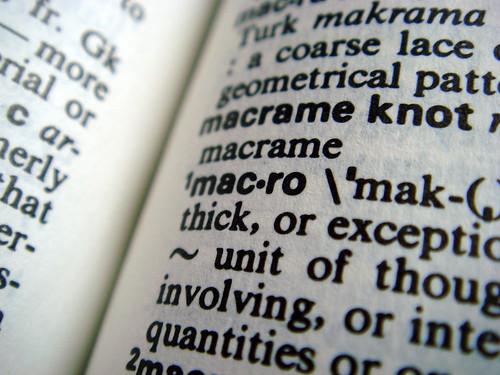 dictionary macro