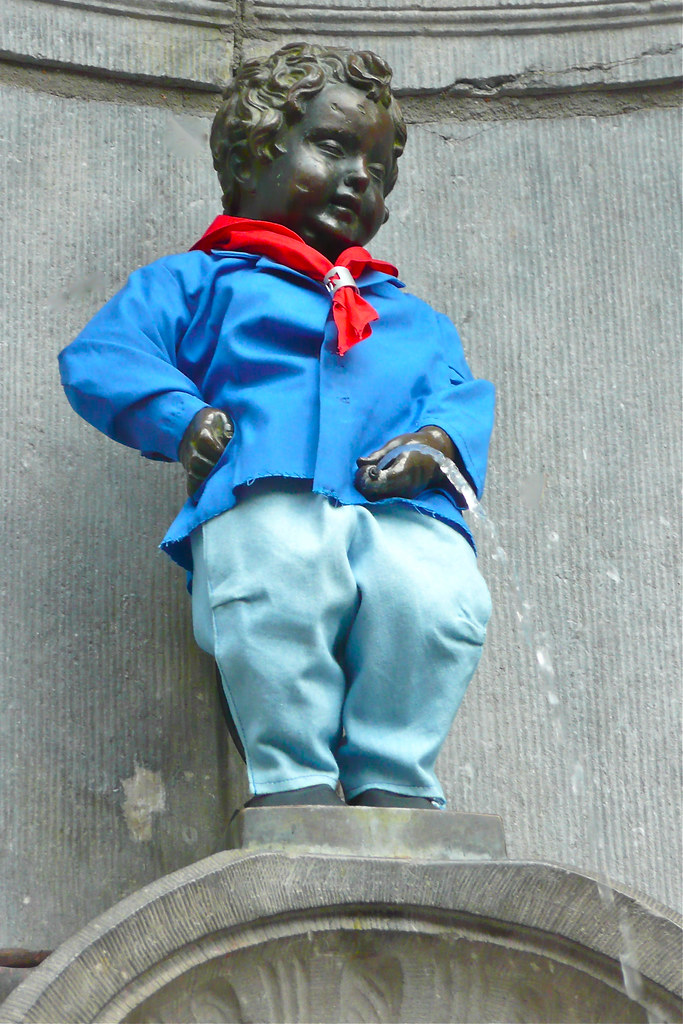 """Manneken Pis"" ""Little Man Piss"" in Brussels"