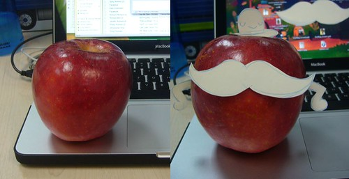 apple apple moustache!