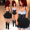 Sam's Secret SWIRL Dress in BLACK & TEAL for RFL