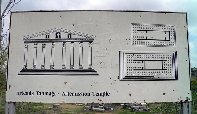 Plans of the Temple of Artemis, Ephesus, Turkey