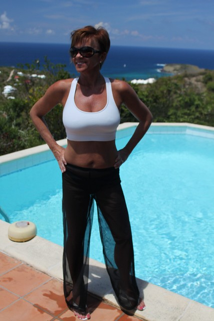 Black Sheer Beach Pants Front View | Flickr - Photo Sharing!