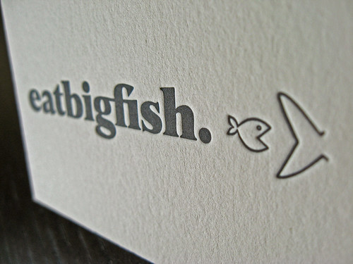 eat big fish letterpress business cards a photo on
