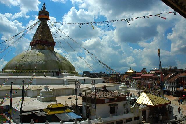 Boudha Stupa by CC user wonderlane on Flickr