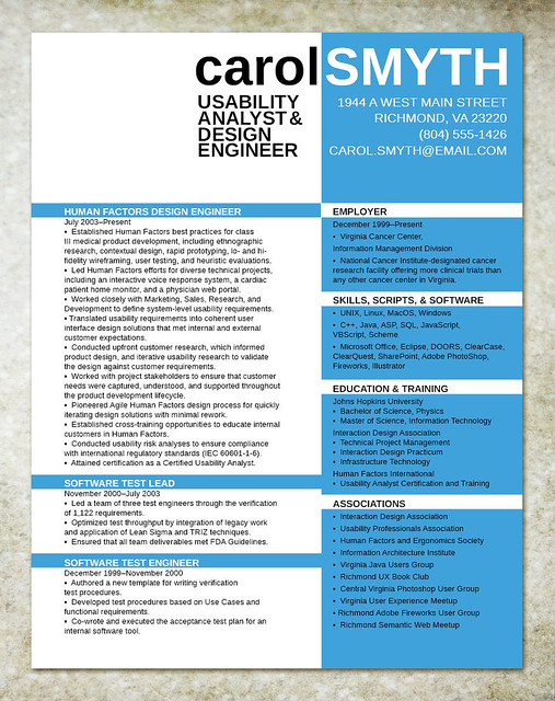 resume design for it engineer flickr photo sharing