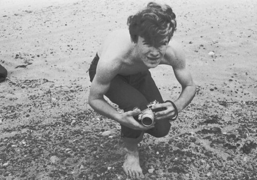the young photographer at the beach