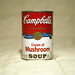 Andy Warhol tribute - Campbell's Soup Can - Cream of Mushroom by official station