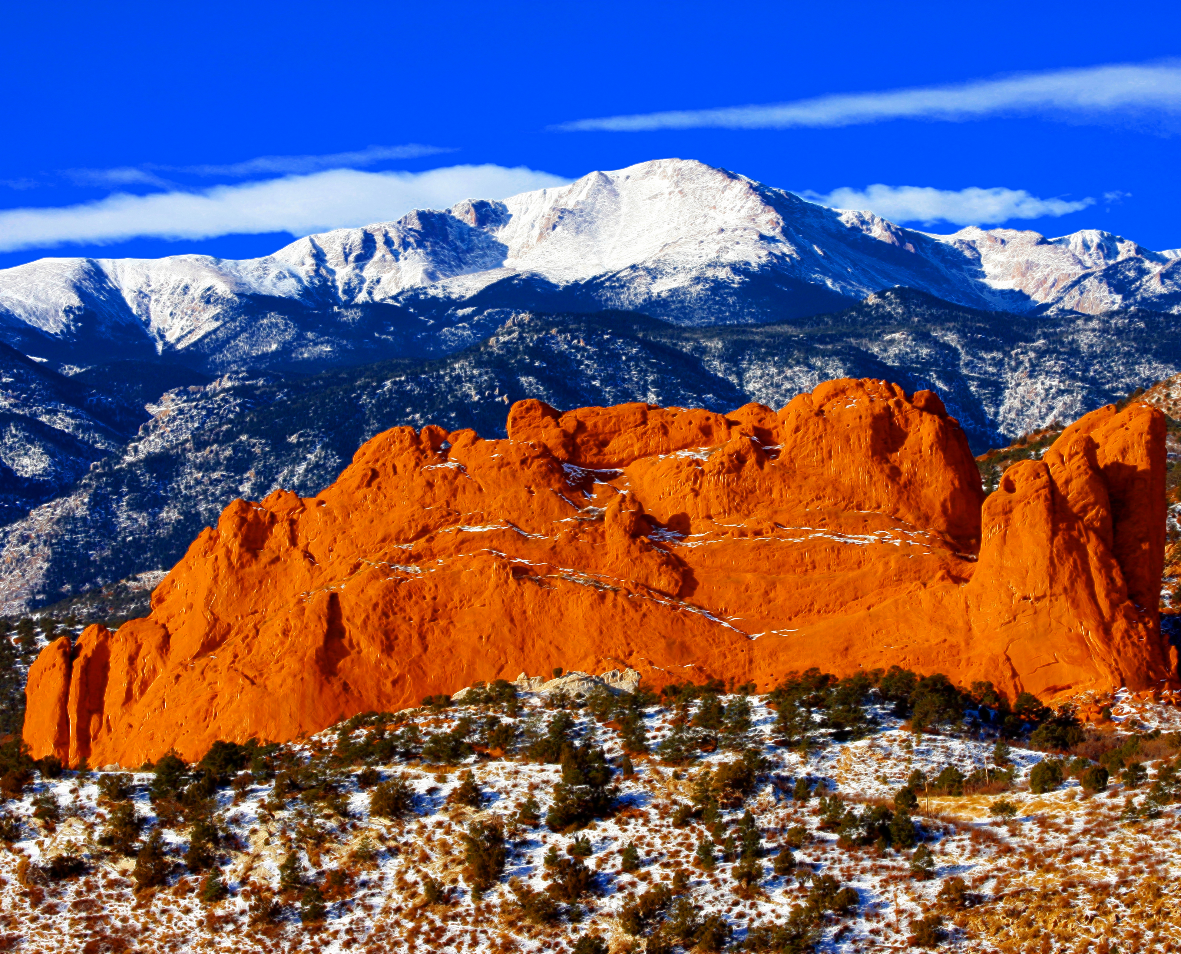 Sweet america pikes peak mounatin from garden of the gods - Garden of the gods colorado springs co ...