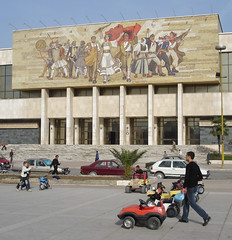 Museum mural in Albania