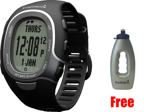Garmin FR60 Mens Black Bundle Sports Watch (Heart Rate+Footpod)