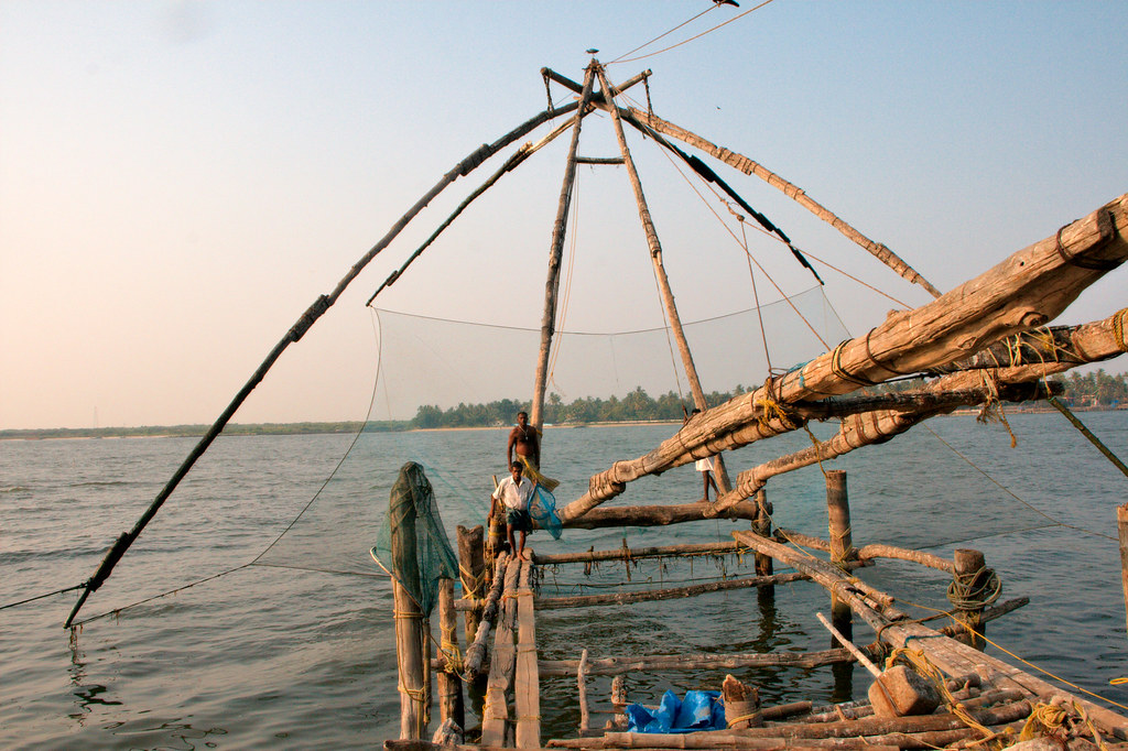 Chinese fishing nets in Fort Cochin