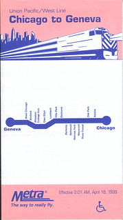 Metra/Union Pacific West Line - April 18, 1999 (September 2002 reprint)