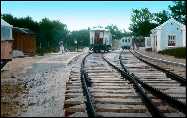BERMUDA RAILWAY --- DOUBLE-TRACK SWITCH POINT at the Old RIDDELL'S BAY STATION