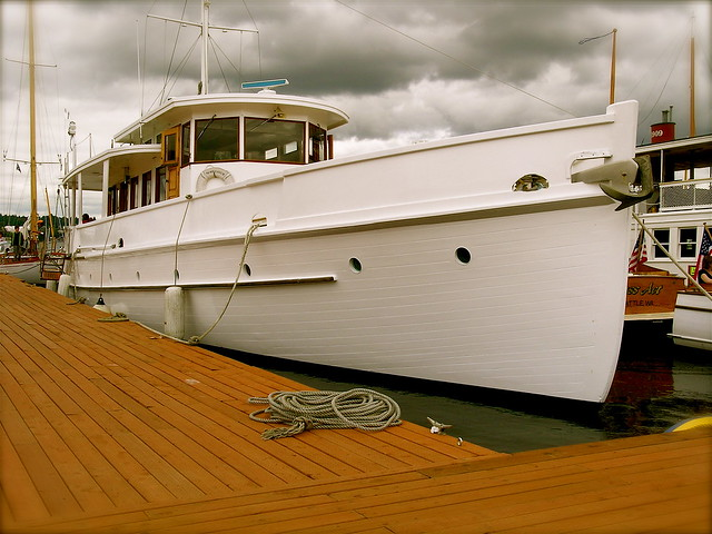 John Wayne's Boat Photos http://www.flickr.com/photos/91972735@N00/3374190880/