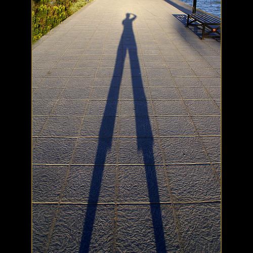 sunset shadow selfportrait explore malecon frontpage stiltwalker explorefrontpage utehagen uteart explore033109