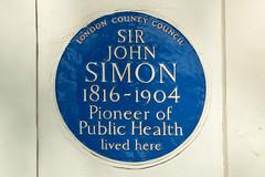 Photo of John Simon blue plaque